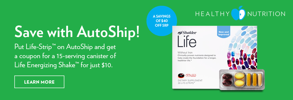 Save with Autoship (Life Strip)