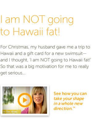 I am NOT going to Hawaii fat - click for video