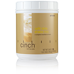 Cinch Shake Cafe Latte Canister, 15 svgs