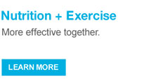 Nutrition + Exercise More effective together.