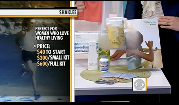 Shaklee on CBS Early News