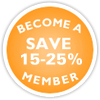 Become A Member -- Save 15%
