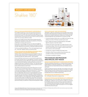 FAQs Shaklee 180