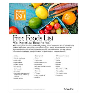 Shaklee 180 Free Foods
