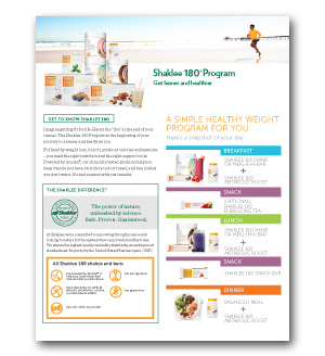 Shaklee 180 Product Sheet