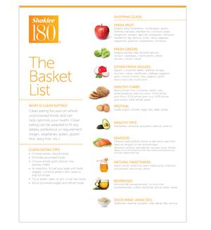 Shaklee 180 Shopping guide