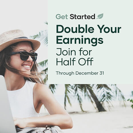 Get Started with Double Commissions promo