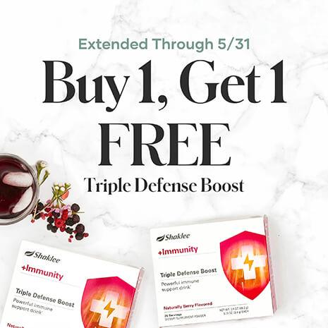 Triple Defense Boost BOGO promo