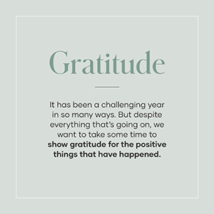 Gratitude for the positive