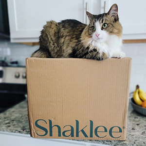 Shaklee products with cat