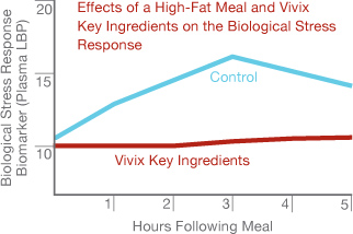 Effects of a High-Fat Meal and Vivix Key Ingredients on the Biological Stress Response