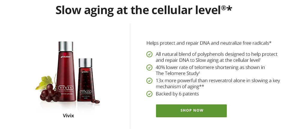 Vivix: Slow Cellular Aging Naturally
