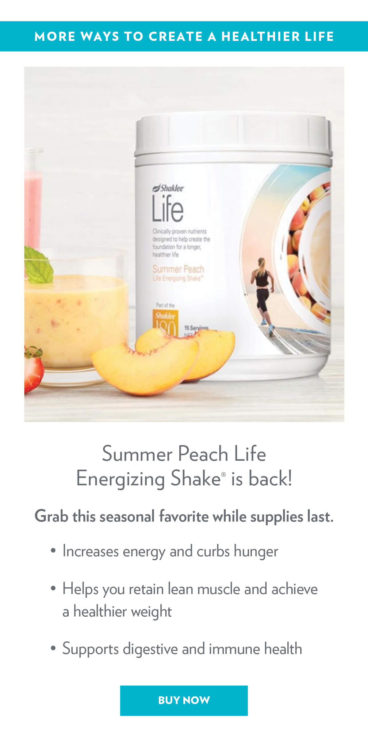 Summer Peach is Back.