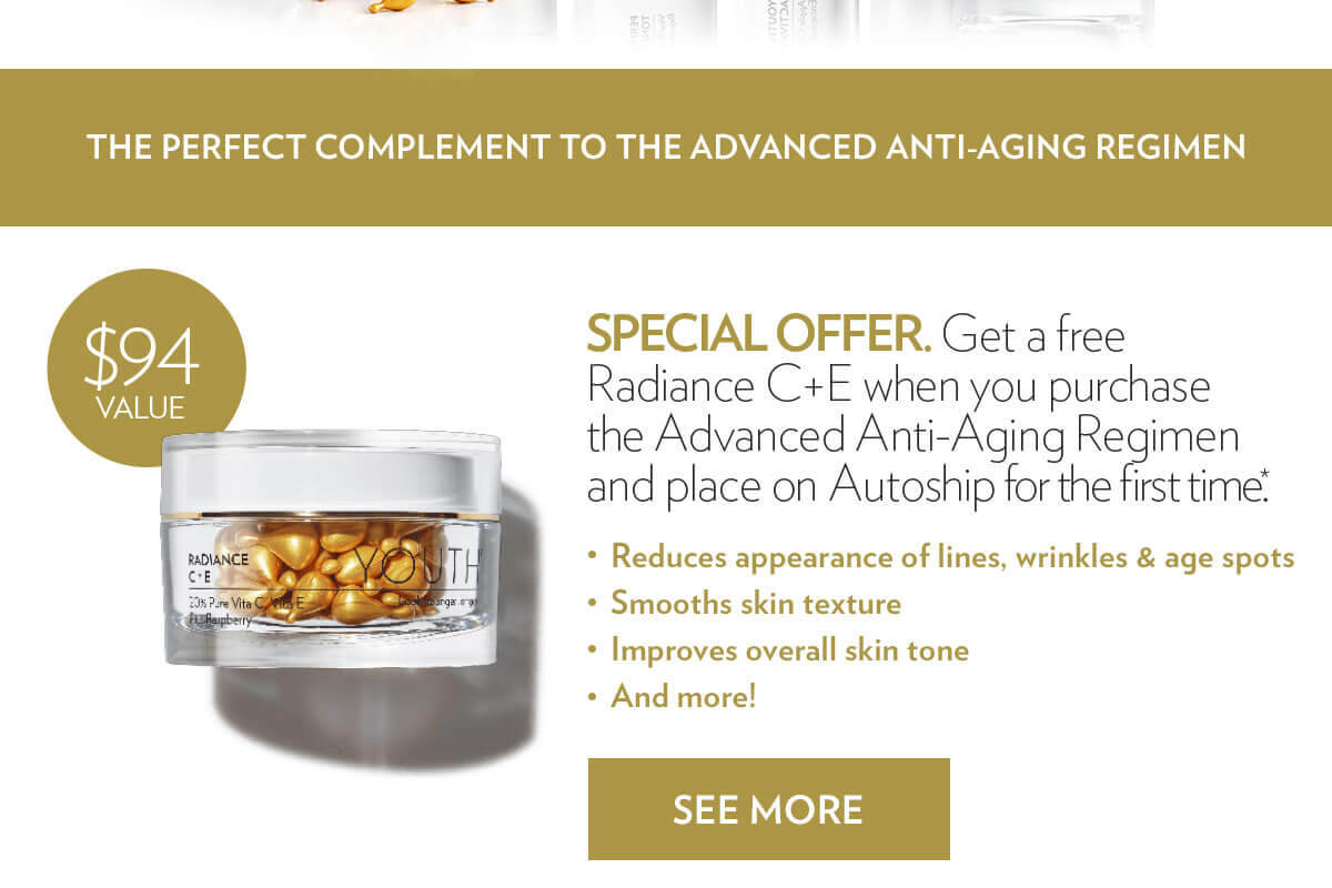 It's Back! FREE Radiance C+E, a $94 Value