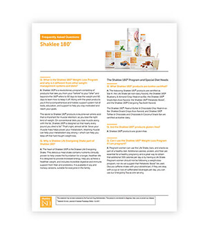 Shaklee 180 frequently asked questions