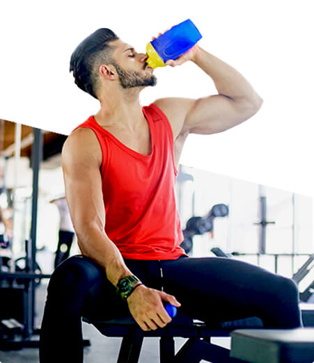Man drinking Shaklee Life Shake after workout