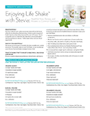 Life Shake recipes and stevia faq