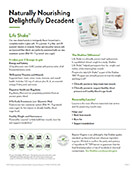 Shaklee Life Shake product sheet