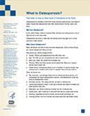 Osteoporosis information sheet