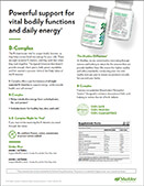 Shaklee B-Complex Product Sheet